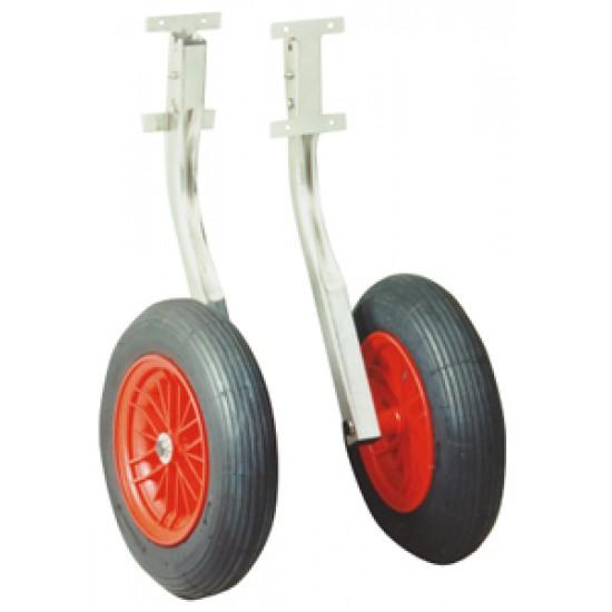 Kit de ruedas inox para Neumaticas hasta 300 kg