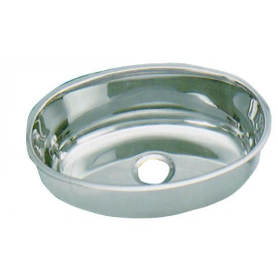 Lavabo ovalado inox 385x265mm