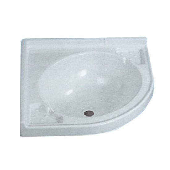 Lavabo ovalado PVC 280x280mm en ángulo