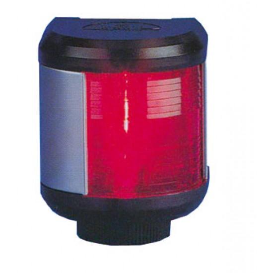 Luz de Navegacion Aquasignal S40 carcasa Negra Luz ROJA