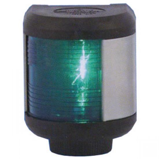 Luz de Navegacion Aquasignal S40 carcasa Negra Luz VERDE