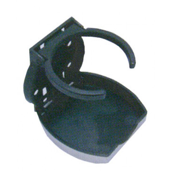 Posavasos, soporte plegable Negro- inox 70 mm