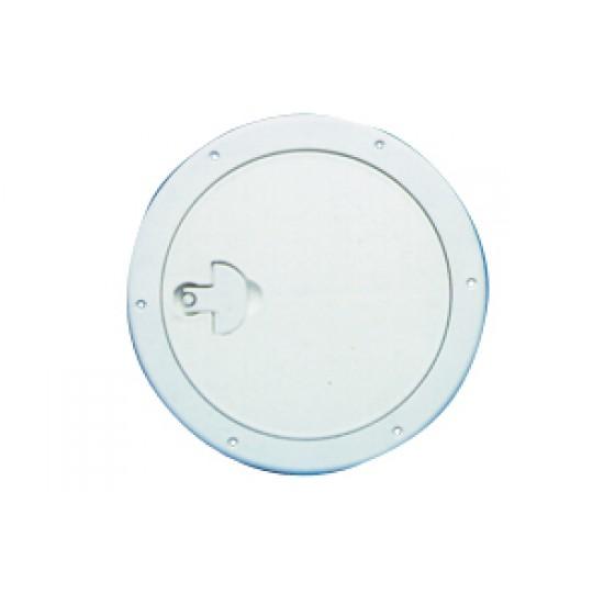 Registro Náutico de Inspección Redondo ABS BLANCO 315 mm