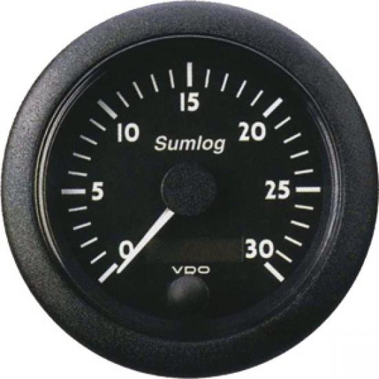 Reloj Corredera Sumlog ViewLine VDO Negro 85 mm 0-50 Nudos