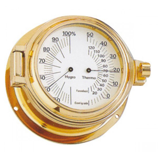 Termometro e Higrometro Náutico Laton Luxe 115 mm