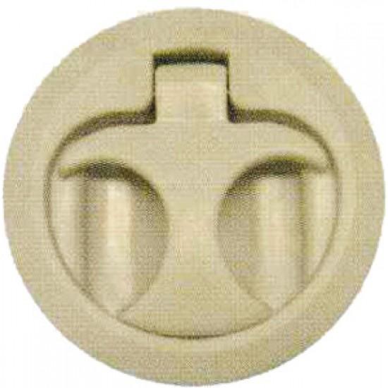 Tirador Náutico para tambuchos en Plastico blanco 50 mm
